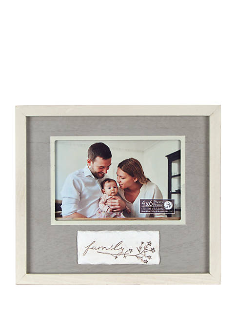 9 Inch x 8 Inch Reverse Box Frame - Family