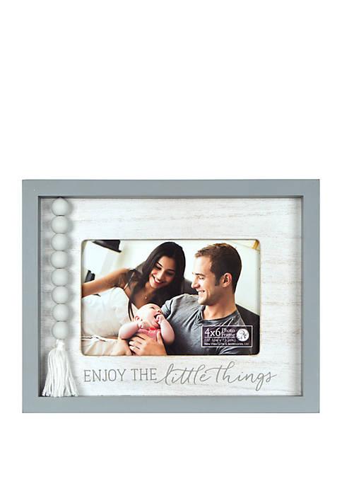 7 Inch x 9 Inch Reverse Box Tassel Frame - Enjoy the Little Things