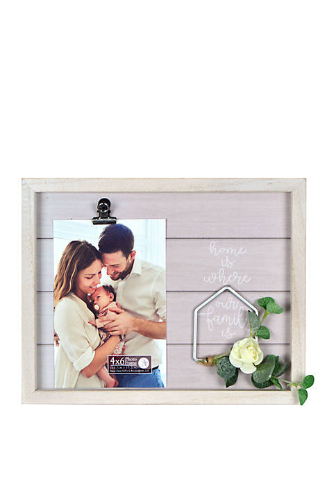 Home Is Where The Family Is Wire Wreath Frame