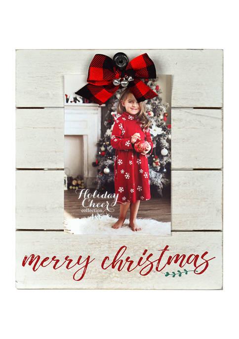 Bow Plank Clip Frame - Merry Christmas