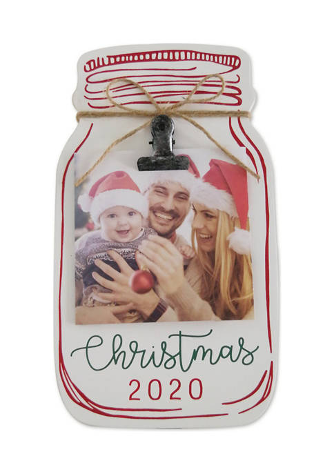 Mason Jar Clip Frame-Christmas 2020