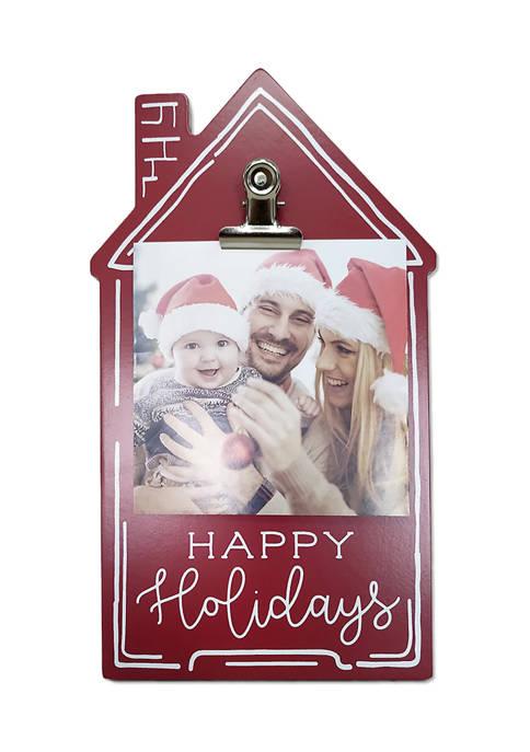 House Clip Frame- Happy Holidays