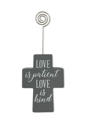 New View Love Is Patient Cross Clip Frame