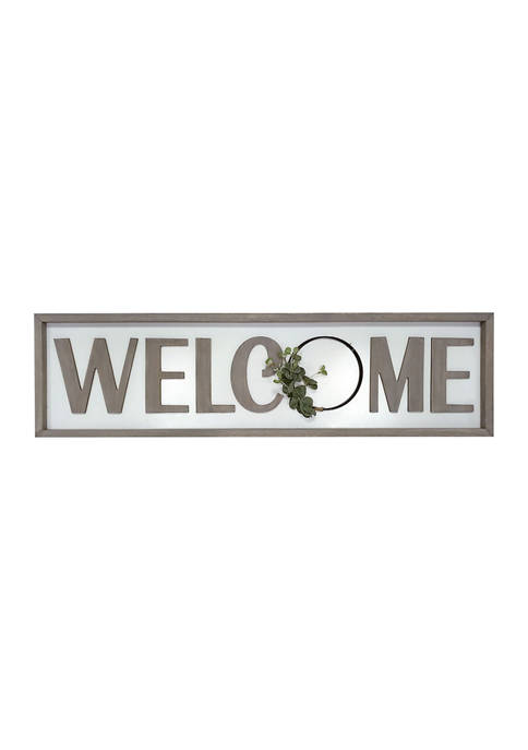 Welcome Wire Plaque