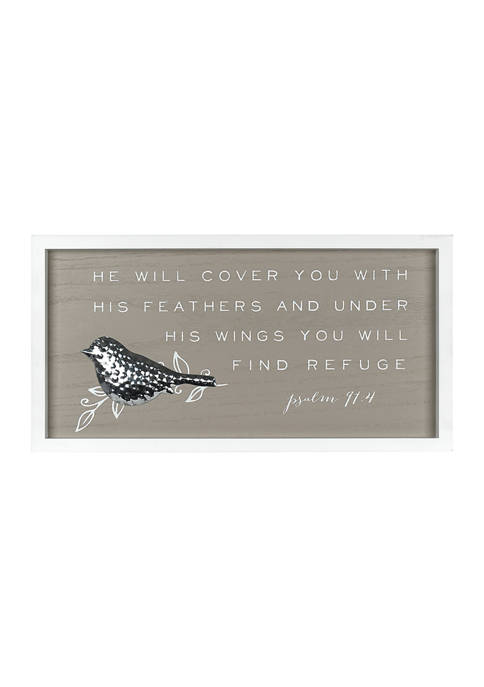 Under His Wings Plaque