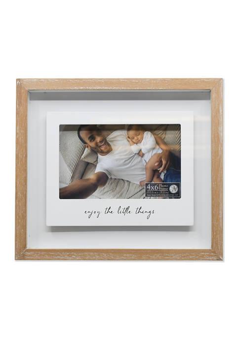 Enjoy The Little Things Polaroid Shadow Box Frame