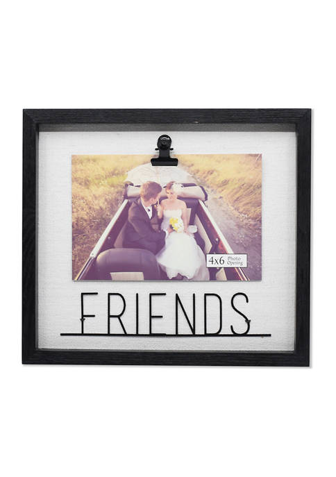 New View Friends Metal Word Clip Frame
