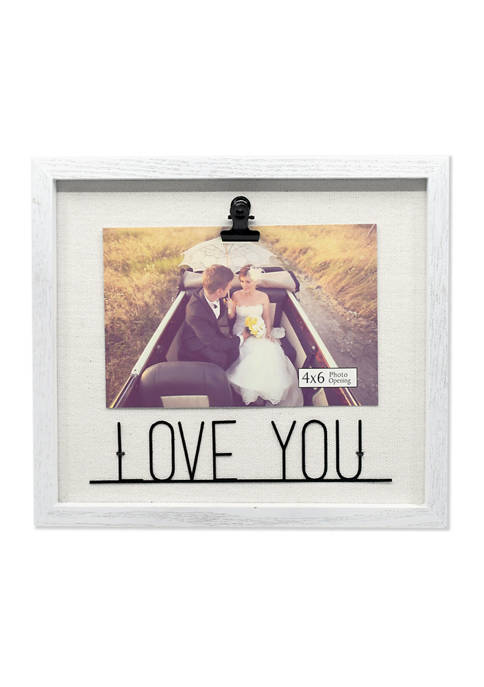 New View Love Metal Word Clip Frame