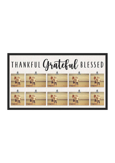Thankful Grateful Blessed Frame