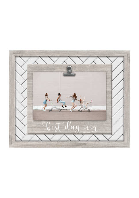 New View Best Day Ever Clip Frame