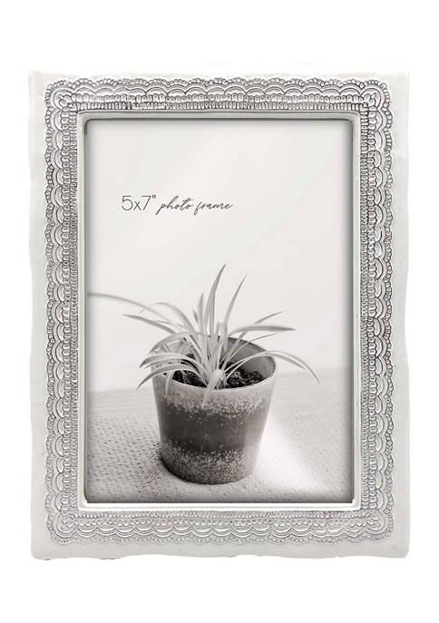 Gray Resin 5 in x 7 in Photo Frame