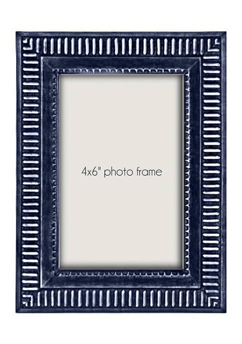 Blue  Resin 4 in x 6 in Photo Frame
