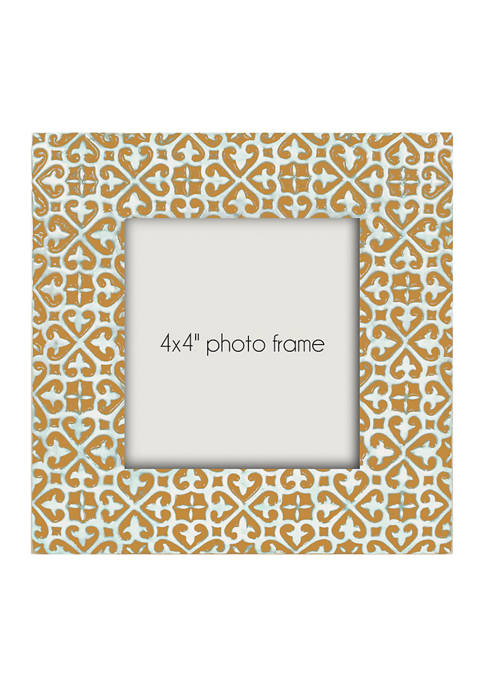Bright Yellow Resin 4 in x 4 in Photo Frame