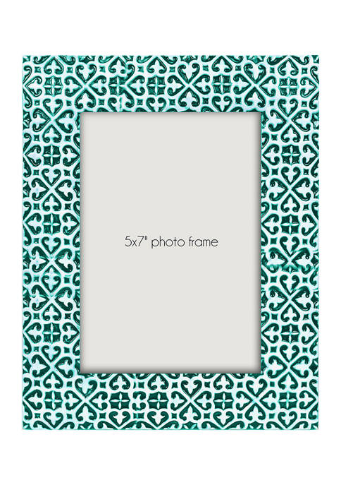 Bright Teal Resin 5 in x 7 in Photo Frame