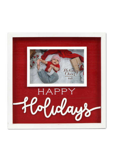 New View Happy Holidays Frame