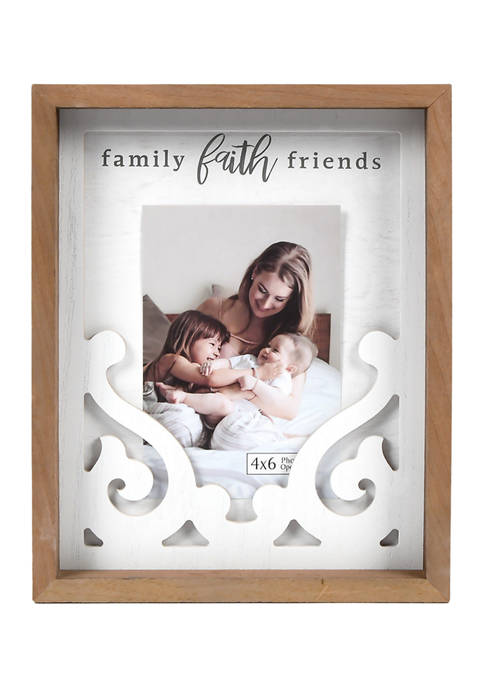 New View Family Faith Friends Picture Frame