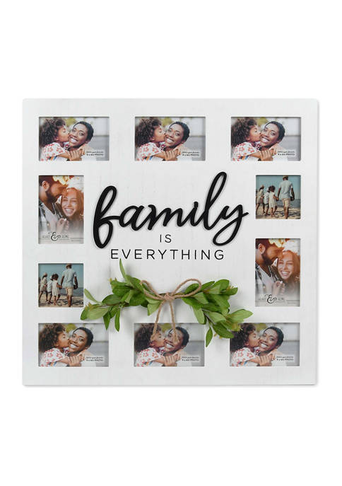 Family Greenery Picture Frame