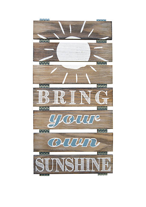 Bring Your Own Sunshine Planked Wall Art