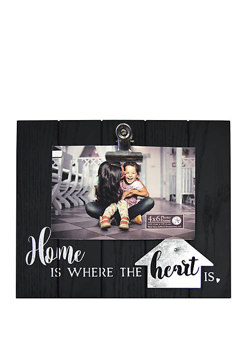 Home Is Where the Heart Is Clip Frame