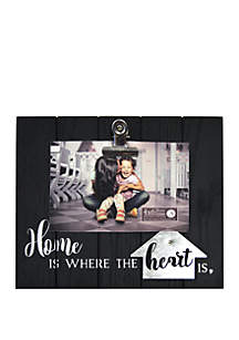 New View Home Is Where the Heart Is Clip Frame