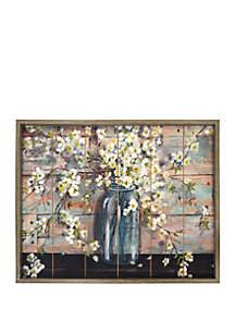 Mason Jar Blossoms Wood Wall Art