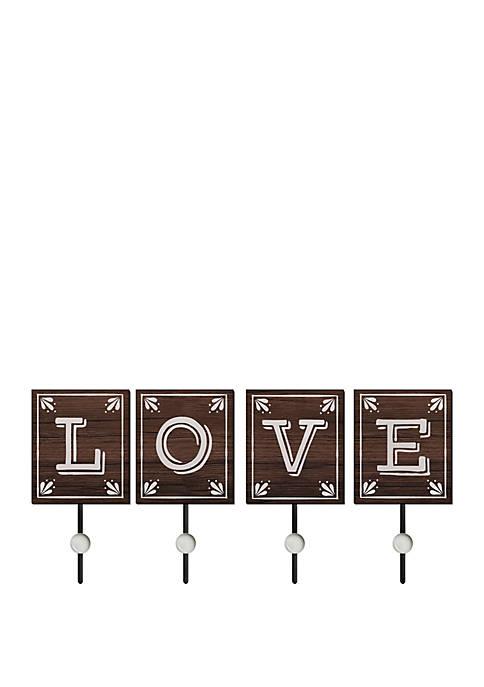 Love Wall Hooks - Set of 4