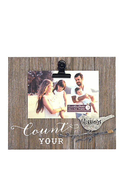 Count Your Blessings Planked Icon Frame