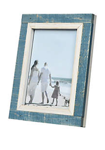 New View Shoreline Blue White Frame