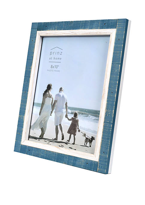 8 in x 10 in Shoreline Blue and White Frame