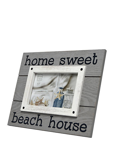 4 in x 6 in Home Sweet Beach House Sentiment Frame