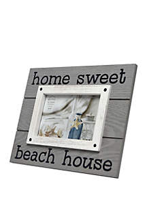 New View 4 in x 6 in Home Sweet Beach House Sentiment Frame