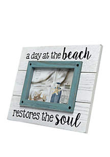 4 in x 6 in Day at the Beach Restores the Soul Sentiment Frame
