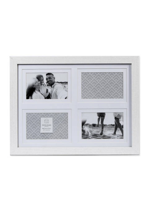 4 in x 6 in Matted White Collage Frame
