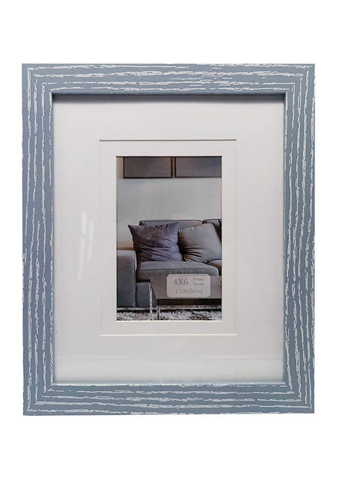 5 in x 7 in Matted Navy Frame