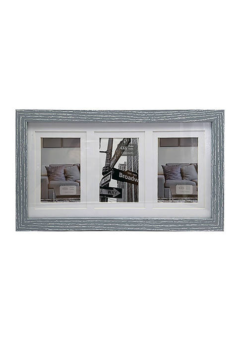 Matted Navy Collage Frame