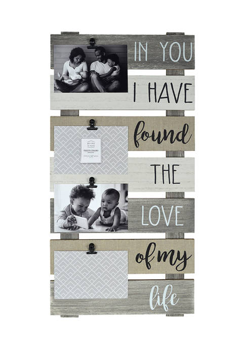 New View Collage- Plank w/ Linen, Love