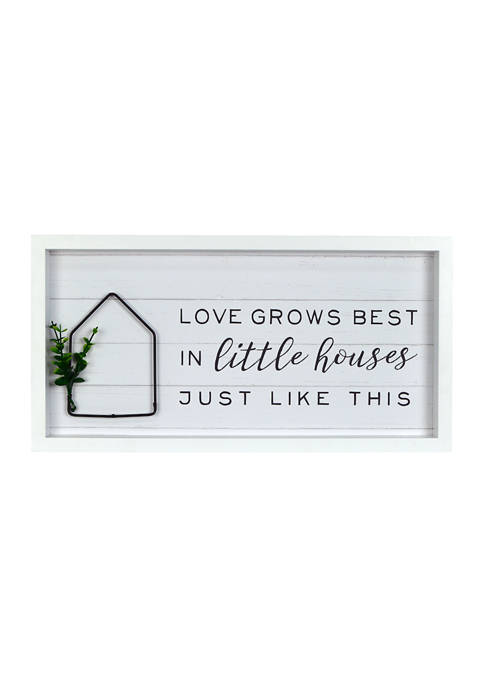 Everyday Home- Little Houses Wall Sign