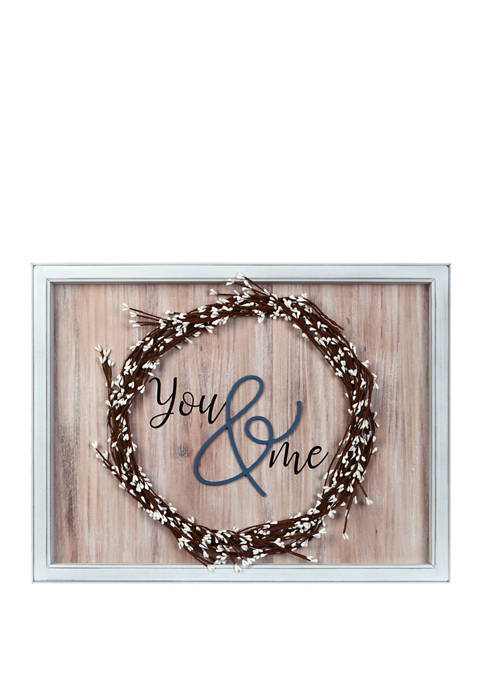 Everyday Home You and Me Framed Art with Wreath
