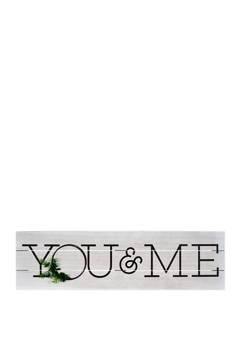 Everyday Home- Plank with Wreath, You & Me