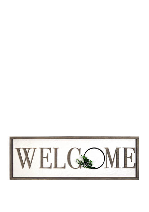 Everyday Home Welcome Wall Sign