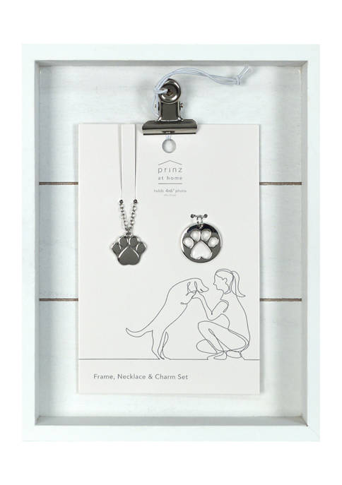 New View Pet Frame, Necklace & Dog Charm