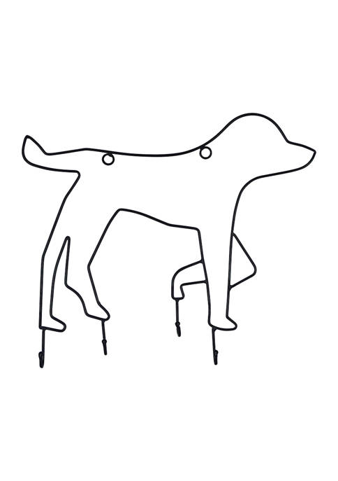 Pet Wall Hook- Dog Outline, 4 Hook