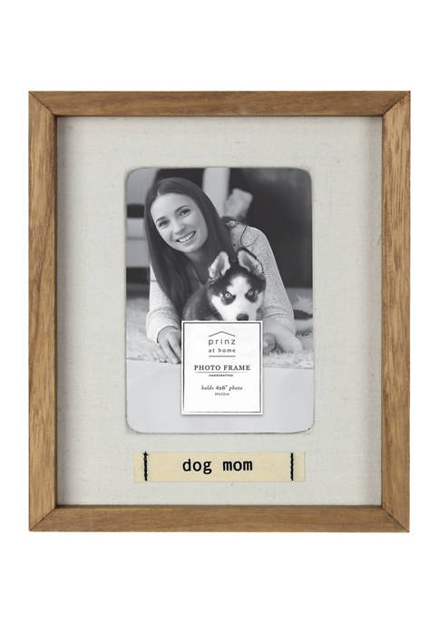 New View Pet Frame- Stitched Cotton Label, Dog