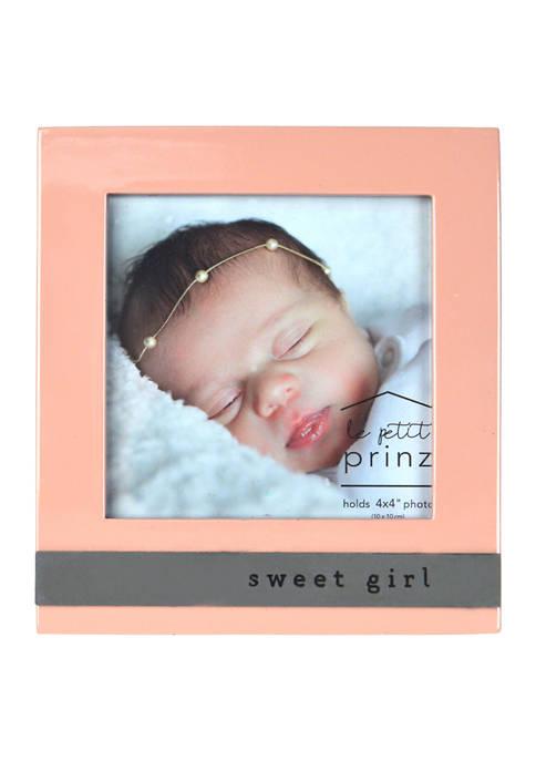 Baby Frame- High Gloss Metal Wrap, Sweet Girl