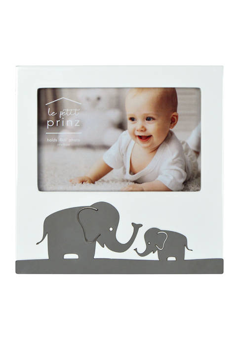 New View Baby Frame- Stamped Metal, Elephant