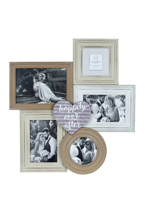 New View Happily Ever After Collage Wedding Frame