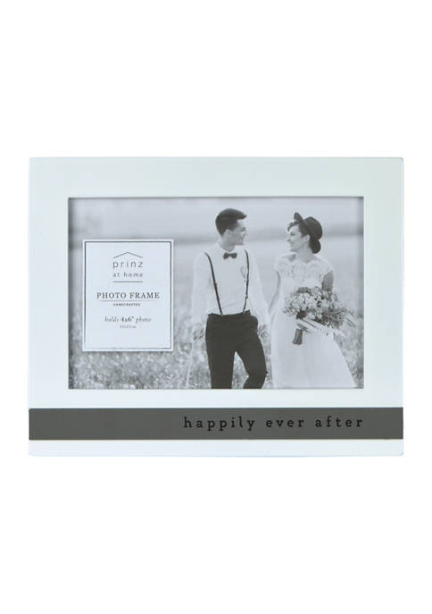 Wedding Frame- High Gloss Metal Wrap, Happily Ever After