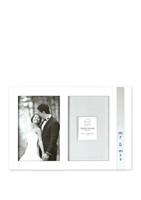 Wedding Frame- High Gloss Metal Wrap, Mr. & Mrs.