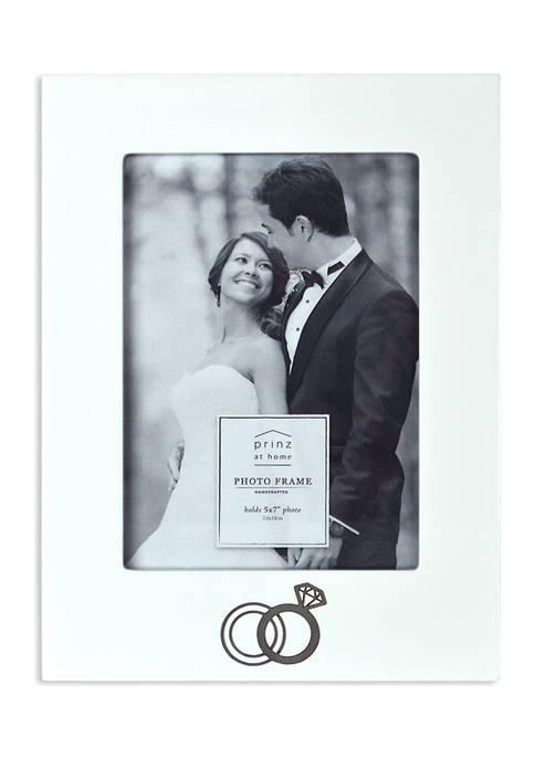 Wedding Frame- Stamped Metal,  Rings