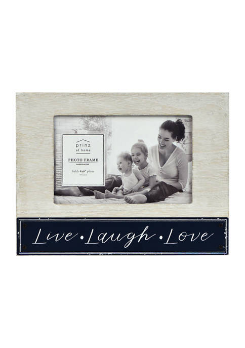 New View Sentiment Frame- Enamel Plank Frame, Live